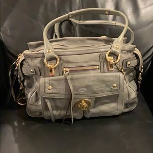 Authentic classic Leather Coach bag